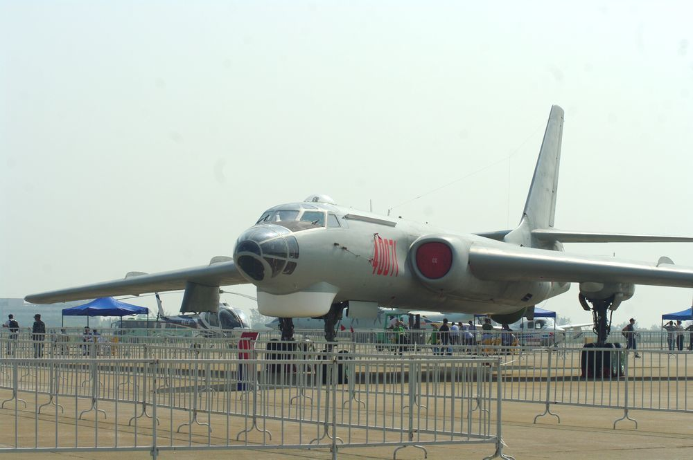 轟六轟炸機。記者程嘉文/攝影