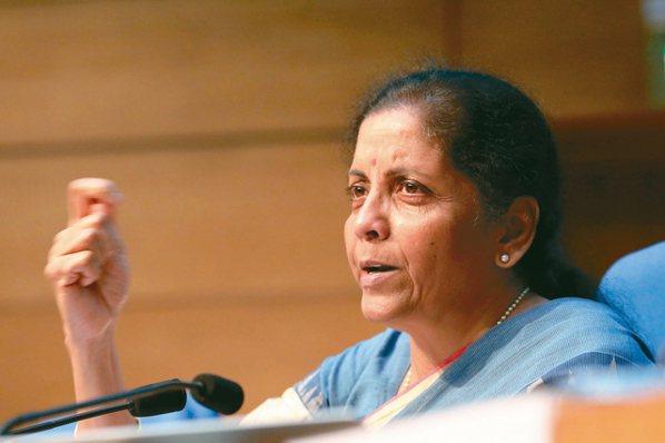 印度財長希塔菈曼 圖/本報系資料庫