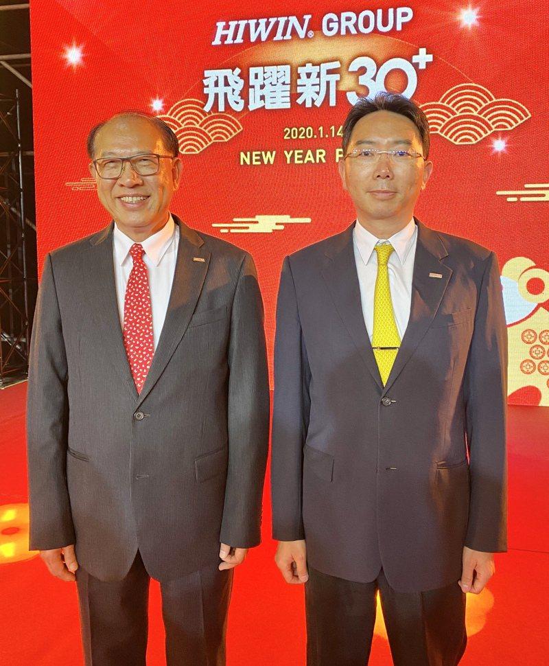 上銀集團總裁卓永財(左)、上銀董事長卓文恒(右)。記者宋健生/攝影