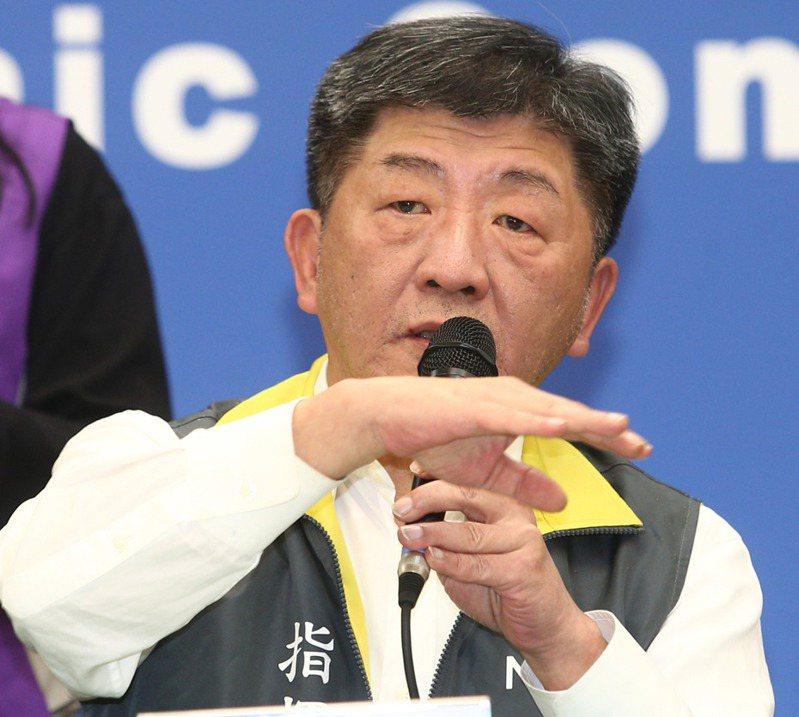 中央流行疫情指揮中心指揮官陳時中。 圖/聯合報系資料照片
