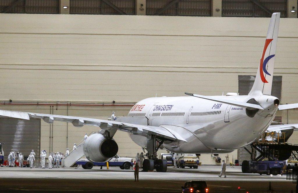 2月4日,武漢台商包機返台。 圖/聯合報系資料照