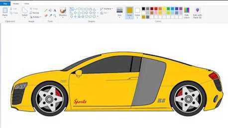 影/居家自主隔離很無聊?不如用小畫家來畫一些車吧!