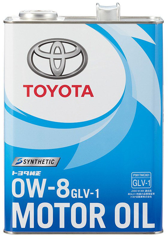 Toyota推出最低黏度機油產品「GLV-1 0W-8」。 摘自Toyota