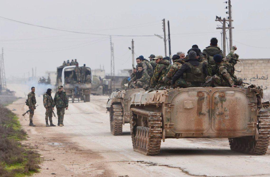 圖為敘利亞政府軍部隊。對於土耳其來說,敘利亞政府軍的易德利卜總攻擊是對「土耳其國...