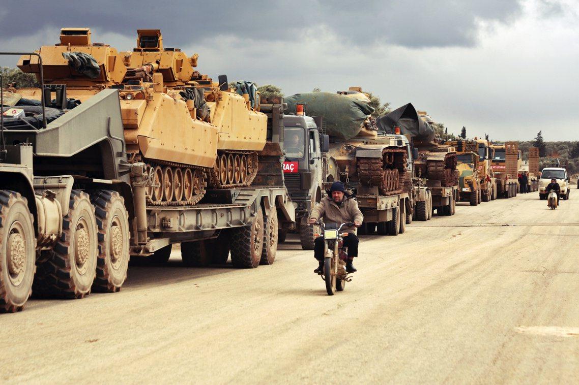 土耳其增援部隊。 圖/美聯社