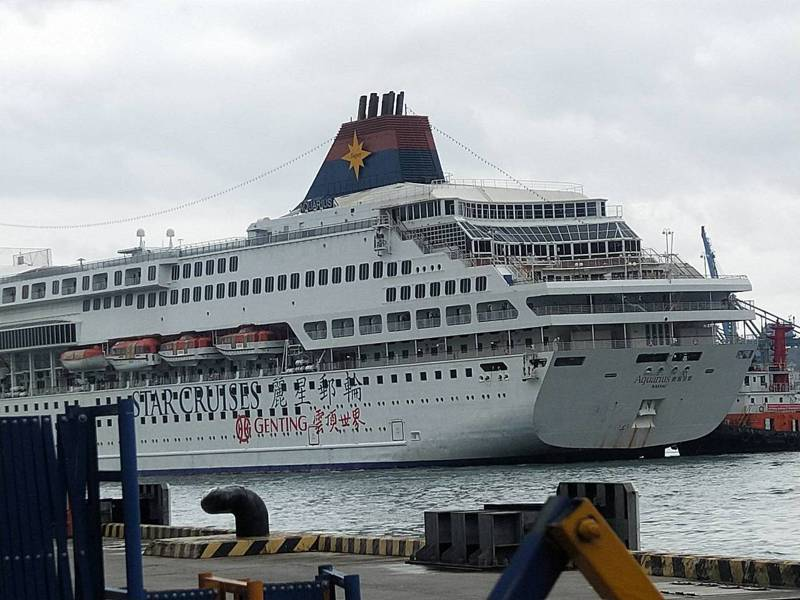 寶瓶星號下午1時進基隆港西4碼頭,不營運靠港暫置。記者游明煌/攝影
