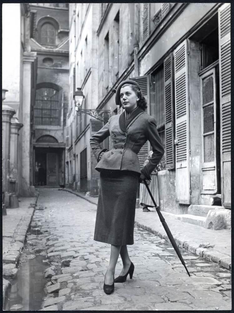 1949年秋冬高級訂製服中的Bar Jacket。圖/DIOR提供