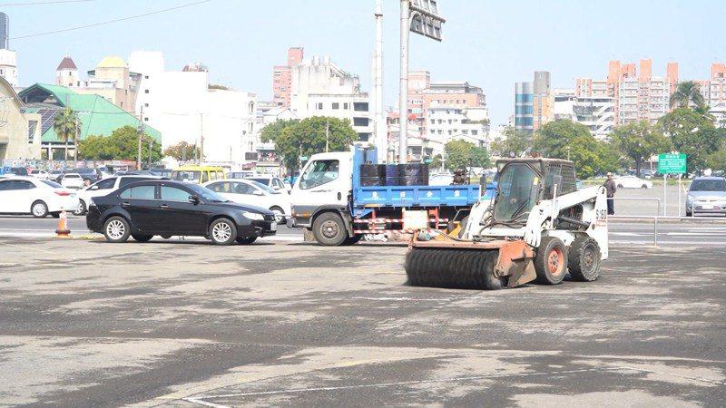 嘉義市府與國防部合作,開發舊燈會場地闢建停車場。圖/嘉義市府提供