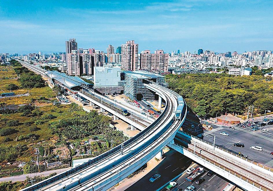 台中捷運綠線預計年底通車,加上台商回流投資,帶動台中房價上升。 建商/提供