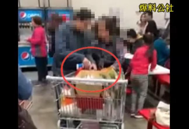 母子檔在好市多貪小便宜的行為被網友全錄下。 圖擷自YouTube