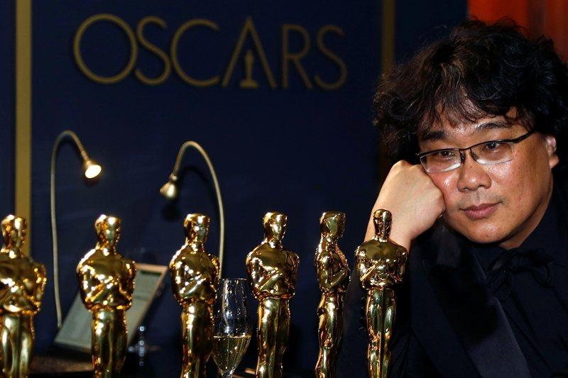 《寄生上流》最終以最佳影片、導演、原著劇本與國際影片四項大獎成績作收。 圖/路透社