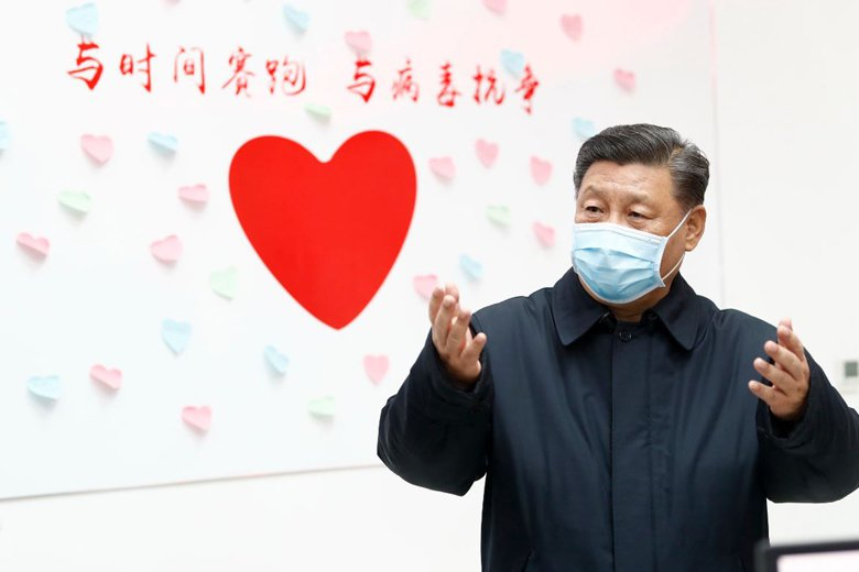 2月10日,習近平在北京調研指導新型冠狀病毒疫情防控工作。 圖/新華社