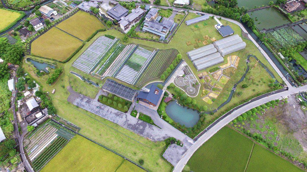 棗稻田佔地三公頃的有機生產場域。 棗稻田食玩農創空間/提供