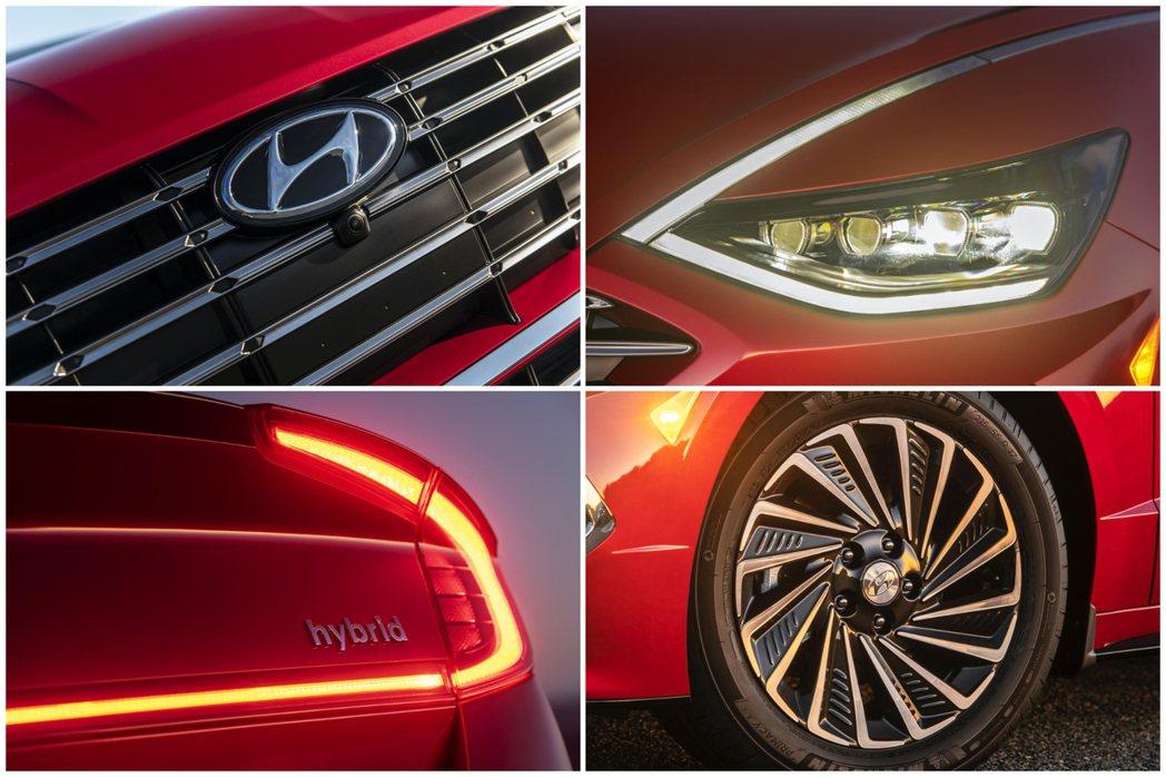 新世代Hyundai Sonata Hybrid外觀設計上與內燃機版本稍有不同。...