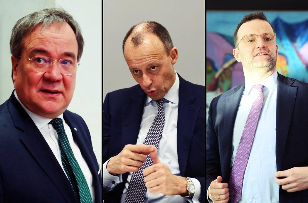 挑戰大位的可能人選有三位,由左至右分別是:「梅克爾追隨者」拉雪特(Armin L...