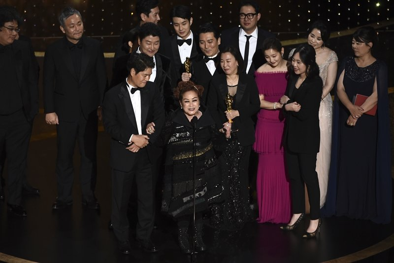 南韓CJ E&M集團副總裁李美京,是《寄生上流》進軍好萊塢的重要推手。 圖/美聯社