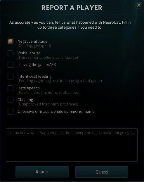 儘管LOL有內建的舉報機制,但遊戲中仍會出現隊友爭吵、甚至全頻互嗆的狀況。