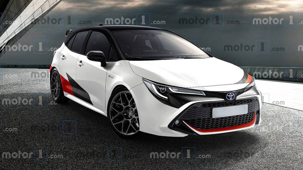 Toyota GR Corolla預想圖。 摘自Motor1.com