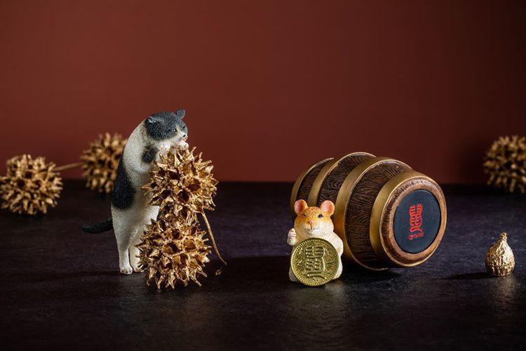 Animal Life鼠年限量存錢筒,2隻一組1,880元,夢時代限量30組。圖...