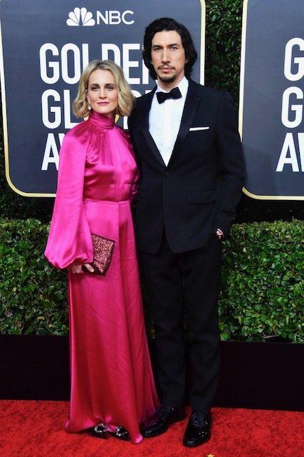 本屆2020金球獎,亞當崔佛穿BURBERRY西裝走紅毯。圖/BURBERRY提...