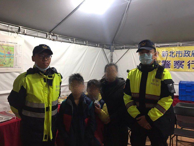 新北燈會幾乎天天都有孩童走失,警方4天以來已經協尋7人,呼籲親子同遊務必留意。圖/警方提供