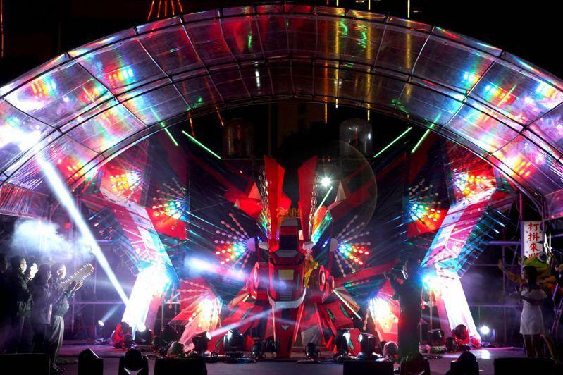 台北燈節東區南港主燈「展風神」在南港南興公園展出。圖/摘自台北燈節官網