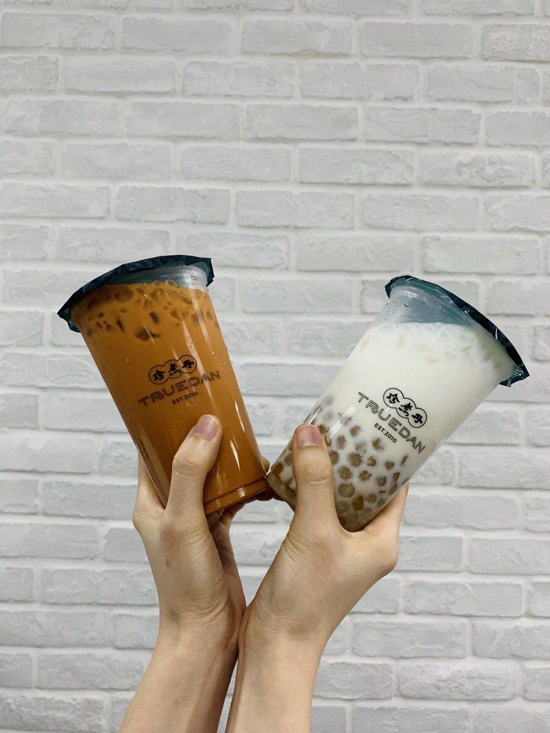 手搖飲料推情人節飲品優惠。圖/珍煮丹提供