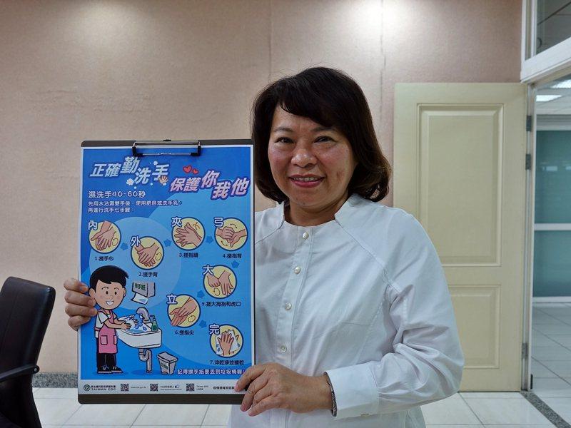 嘉義市長黃敏惠希望大家走出戶外,勤洗手防疫。圖/市府提供