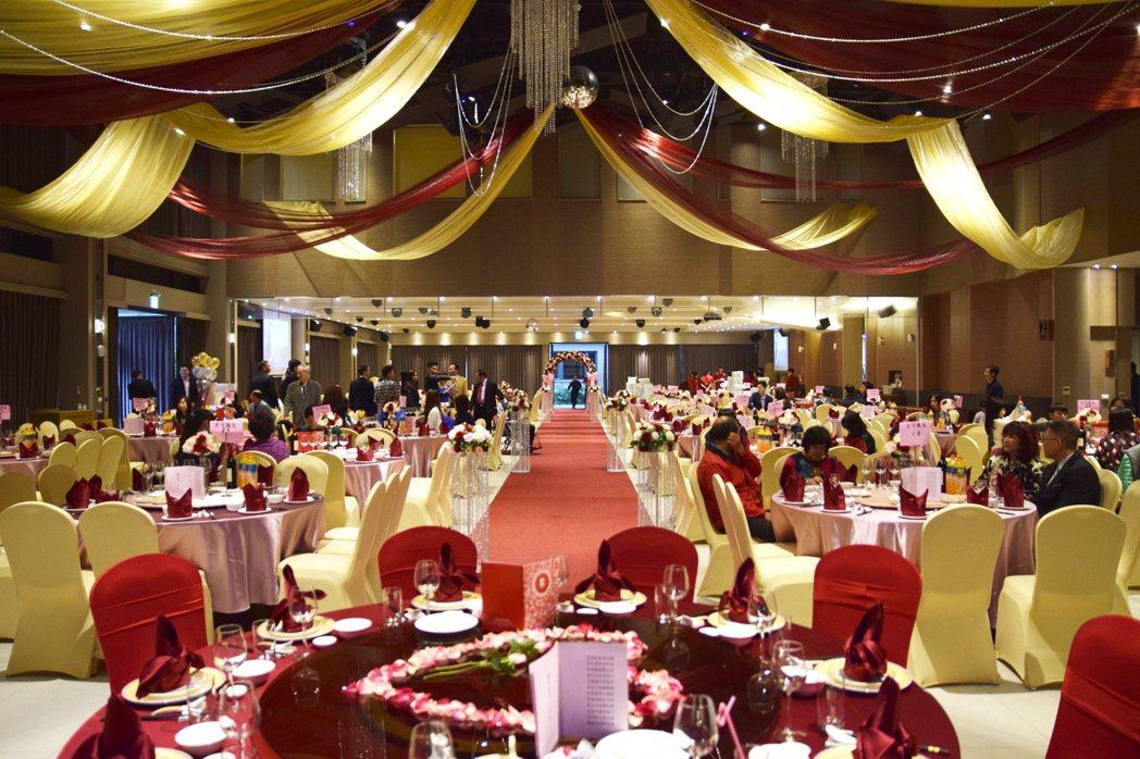 新冠肺炎疫情延燒,樂億皇家渡假酒店遇到新人將婚宴延期。圖/樂億皇家渡假飯店提供