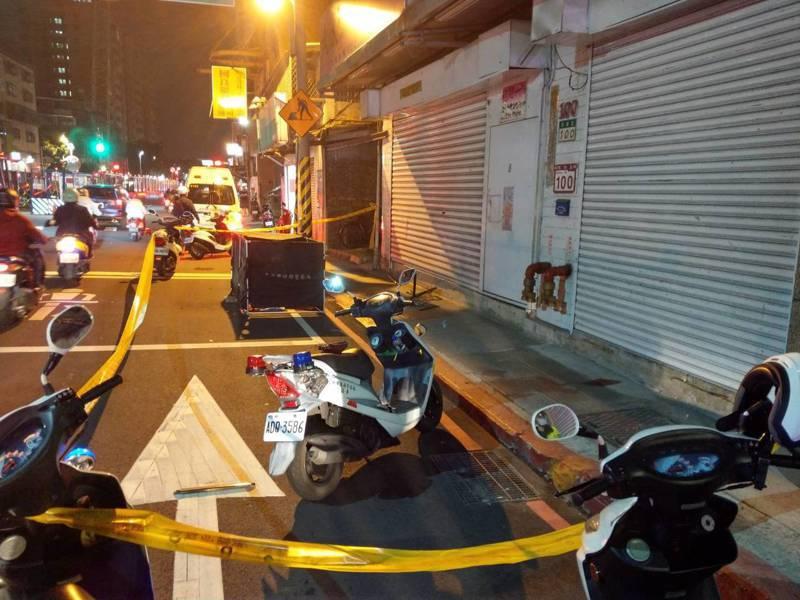 北市一名女子疑似自大樓13樓墜下,當場死亡。記者李隆揆/翻攝