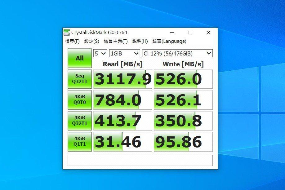 東芝SSD 512GB PCIe NVMe TLC高階產品果然跑分亮眼。 彭子豪...