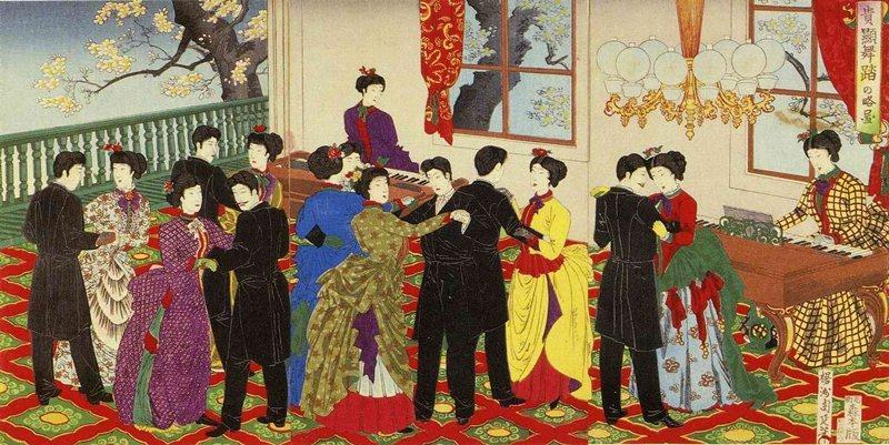 舞會是鹿鳴館派對的重頭節目。 圖/維基百科