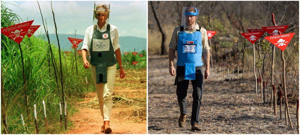 2019年,哈利王子踏上黛安娜王妃的腳步,前往安哥拉,重現當年的走過殘雷區的景象...