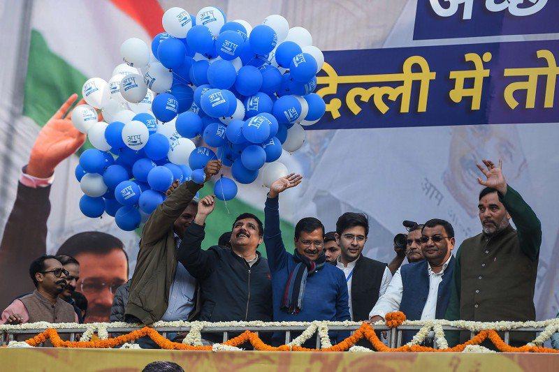 普通人黨在上週的德里議會選舉中大勝。(photo by 網路截圖)