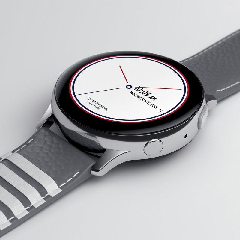 三星Thom Browne聯名特別版Galaxy Watch Active2。圖/三星提供