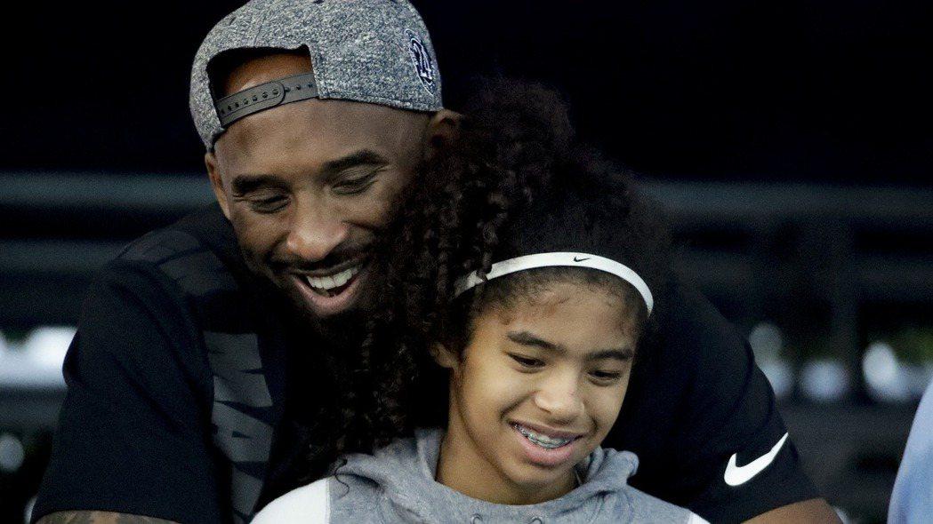 NBA傳奇球星Kobe Bryant 與愛女Gianna Bryant 美聯社