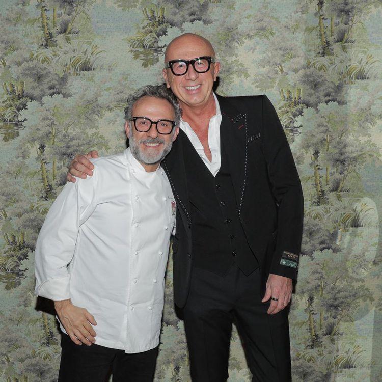 GUCCI首席執行長Marco Bizzari與米其林星級主廚Massimo B...