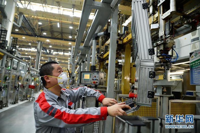 為減輕疫情對經濟的衝擊,大陸正積極推動企業逐步恢復生產。圖為江蘇省太倉市最大的德資企業舍弗勒集團中國公司10日已經復工。(新華網)