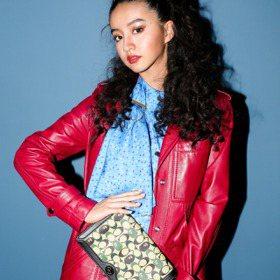 紐約時裝周/木村光希濃妝搖滾COACH秋季秀 幾何包搶眼