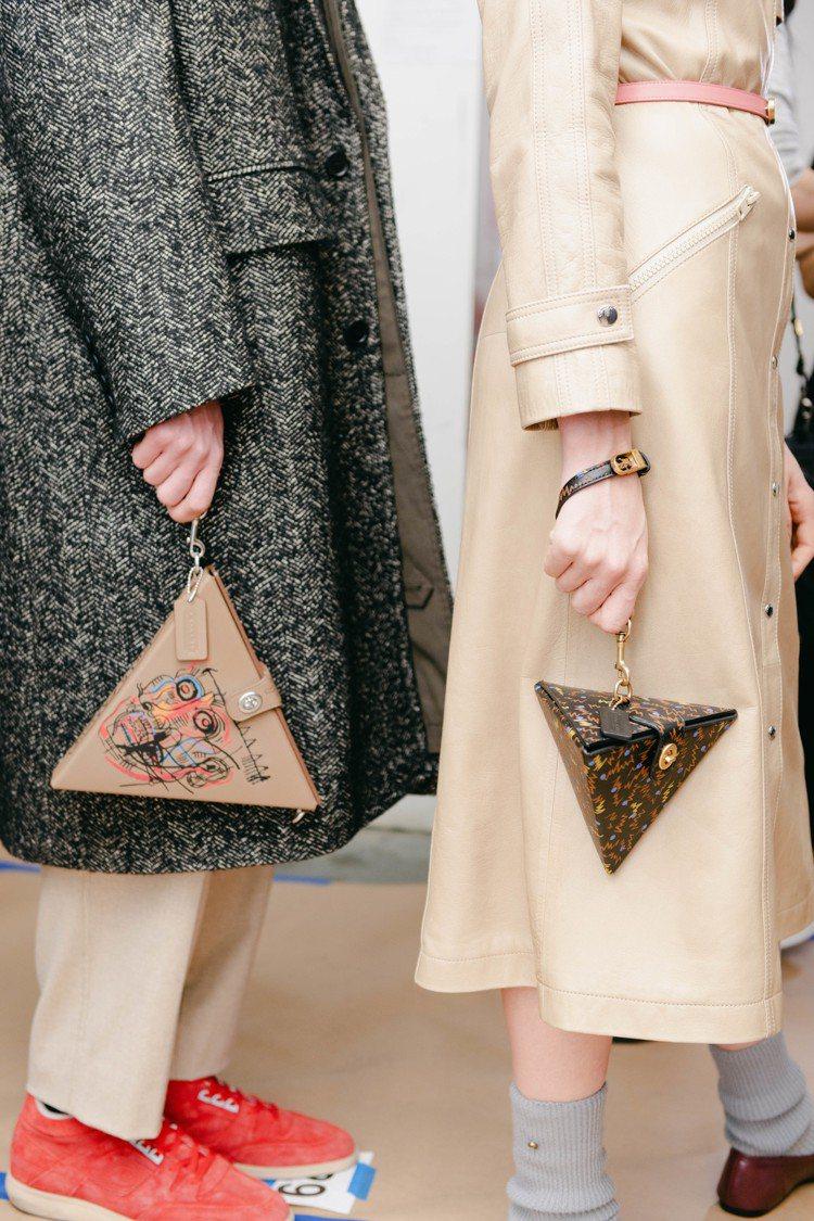 各式幾何包款是COACH秋季系列吸引人目光的配件。圖/COACH提供
