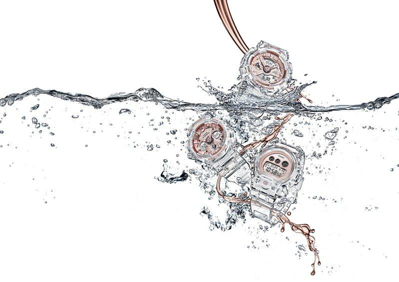 G-Shcok罕見為女性消費者而設,打造全新的「晶透系列」腕表。圖/Casio提供