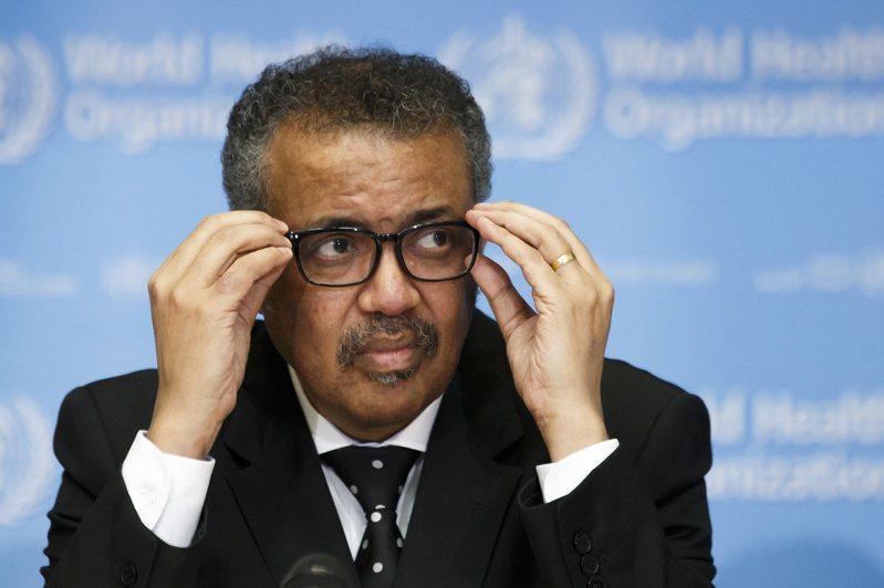 世界衛生組織秘書長譚德塞十一日表示,世衛決定將新冠肺炎正式命名為「19冠狀病毒疾病」(COVID-19)。 (歐新社)