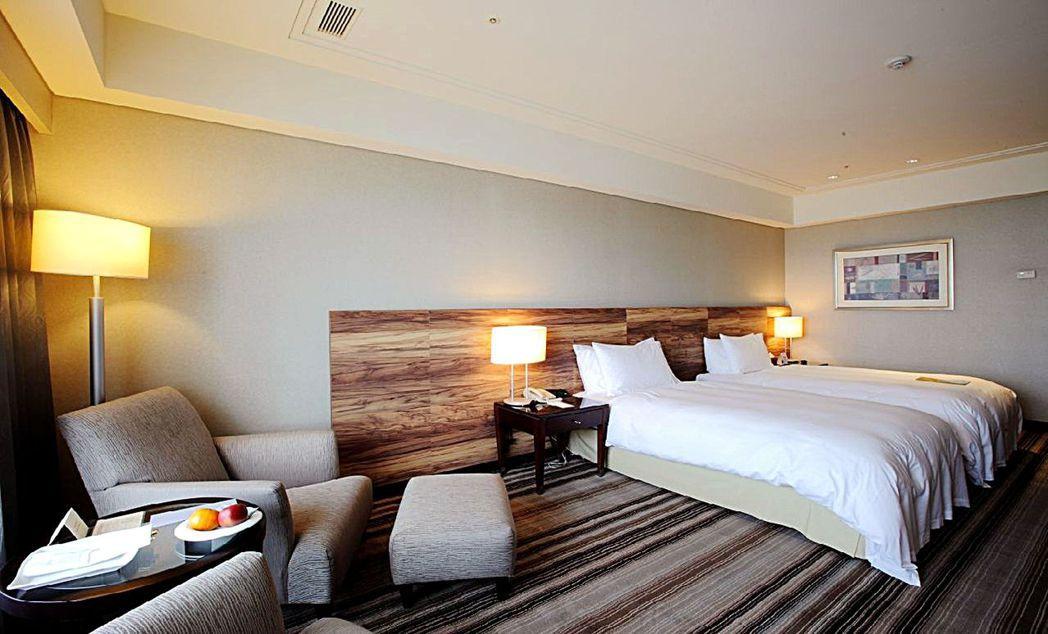 台南大億麗緻酒店雅緻雙人房。  大億麗緻酒店 提供
