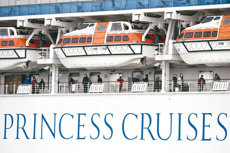 鑽石公主號乘客無法下船,愈來愈多人感染。 美聯社