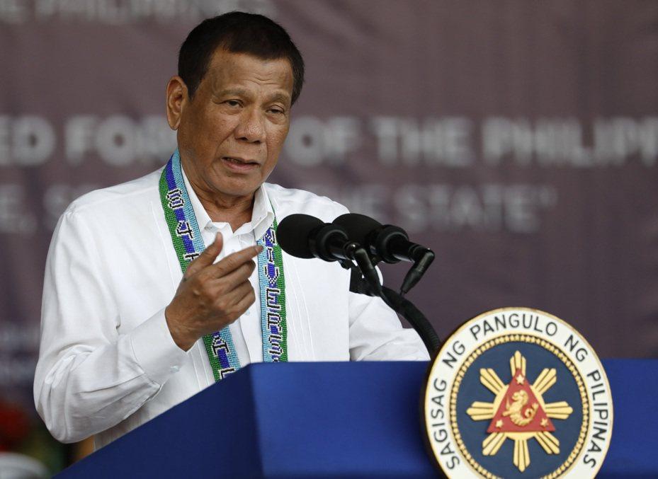 菲律賓對台灣實施旅行禁令,圖為菲律賓總統杜特蒂。 歐新社
