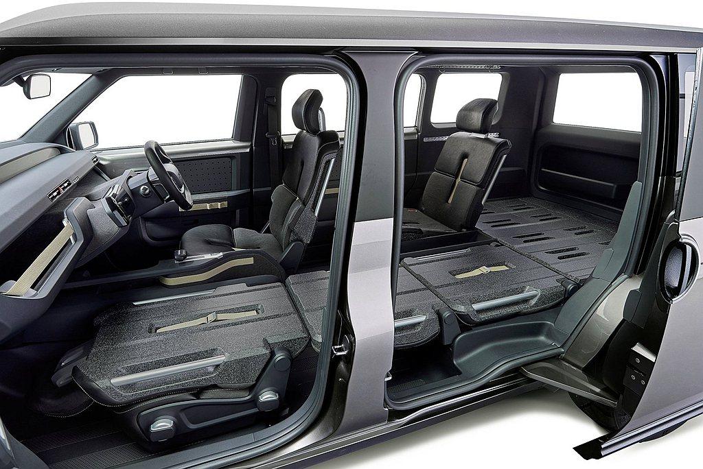 Toyota TJ Cruiser概念車長、寬、高為4,300mm、1,775m...