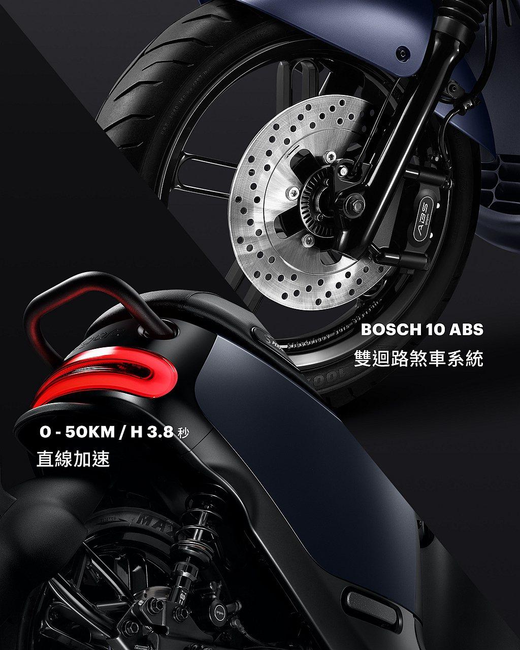 因應車款0-50公里直線加速僅要3.8秒的強悍性能以及ABS強大制動力,Gogo...
