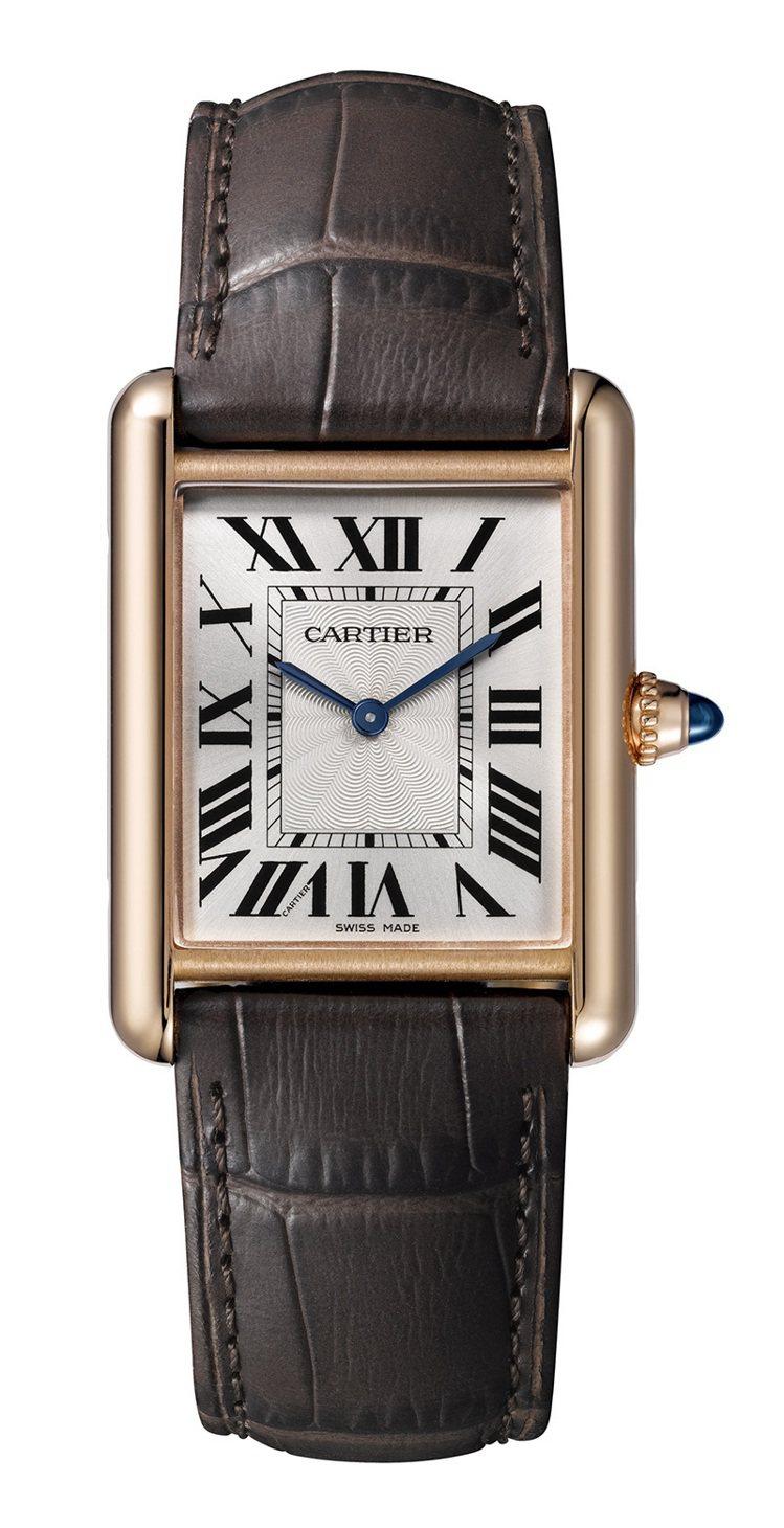 Cartier,Tank Louis Cartier腕表,大型款,玫瑰K金, 3...