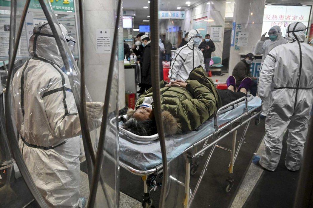 武漢肺炎疫情嚴峻。法新社
