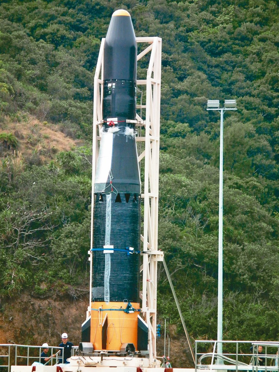 晉陞太空科技公司自製台灣第一枚探空火箭「飛鼠一號」。本報資料照片